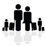 Vector del icono del viaje de la familia Imagen de archivo libre de regalías