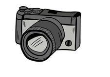 Vector del icono del garabato de la cámara con el fondo blanco Imagen de archivo libre de regalías