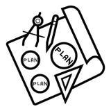 Vector del icono del plan ilustración del vector