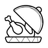 Vector del icono del pollo ilustración del vector