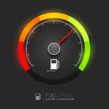 Vector del indicador de la gasolina Imagen de archivo libre de regalías
