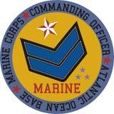 Vector del infante de marina del logotipo Foto de archivo libre de regalías