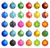Vector del invierno de la bola de la Navidad Fotografía de archivo libre de regalías