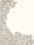 Vector del jardín de flor del Doodle de la alheña Fotos de archivo