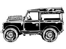 Vector del jeep de Suv, EPS, logotipo, icono, ejemplo de la silueta por los crafteroks para diversas aplicaciones Visite mi p?gin stock de ilustración