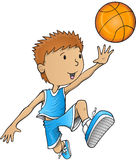 Vector del jugador de básquet