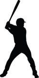 vector del jugador de béisbol Fotografía de archivo