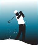 Vector del jugador de golf Fotografía de archivo libre de regalías