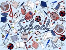 Vector del libro de colorear de la escuela Imágenes de archivo libres de regalías