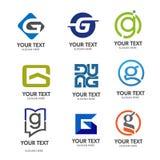 Vector del logotipo de G de la letra Fotos de archivo libres de regalías