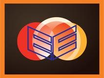 Vector del logotipo de la letra E Vector la tipografía para las etiquetas, los títulos, los carteles, las tarjetas etc imágenes de archivo libres de regalías