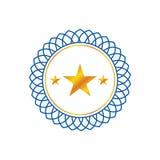 Vector del logotipo de las estrellas del minimalist tres ilustración del vector