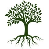 Vector del logotipo de las raíces del árbol stock de ilustración