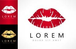 Vector del logotipo de los labios Imágenes de archivo libres de regalías