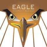 Vector del logotipo del águila de oro Imagen de archivo libre de regalías