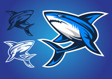 Vector del logotipo del emblema del tiburón Fotos de archivo