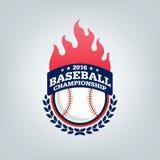 Vector del logotipo del equipo de deporte del béisbol Imagenes de archivo