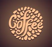 Vector del logotipo del icono del ejemplo del círculo del café stock de ilustración