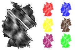 Vector del mapa de Alemania Imágenes de archivo libres de regalías