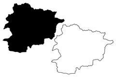 Vector del mapa de Andorra Fotografía de archivo