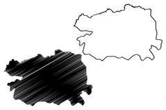 Vector del mapa de la provincia de Bas-Uele