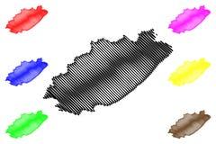 Vector del mapa de la provincia de Eastern Cape libre illustration