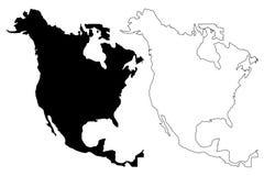 Vector del mapa de Norteamérica libre illustration