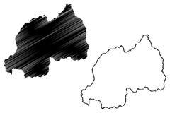 Vector del mapa de Rwanda