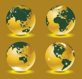 Vector del mapa del mundo 3d Imagenes de archivo