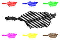 Vector del mapa del estado de Apure stock de ilustración
