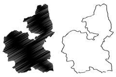 Vector del mapa del estado de Bauchi