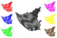 Vector del mapa del estado de Bayelsa