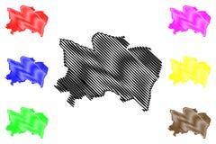 Vector del mapa del estado de Benue