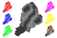 Vector del mapa del estado de Borno