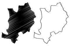 Vector del mapa del estado de Ebonyi
