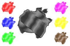 Vector del mapa del estado de Ekiti
