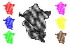 Vector del mapa del estado de Enugu