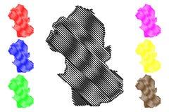 Vector del mapa del estado de Gombe