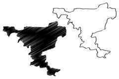 Vector del mapa del estado de Jigawa