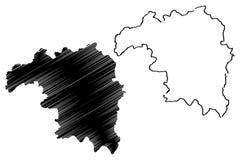 Vector del mapa del estado de Kaduna