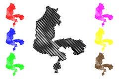 Vector del mapa del estado de Kebbi