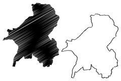 Vector del mapa del estado de Taraba