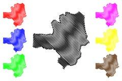 Vector del mapa del estado de Zamfara