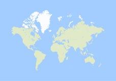 Vector del mapa del mundo libre illustration