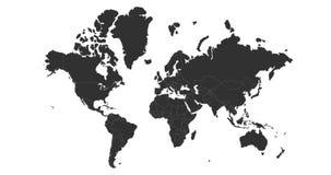 Vector del mapa del mundo, aislado en el fondo blanco Puede ser utilizado para el informe anual, inphographics Altos pa?ses detal stock de ilustración