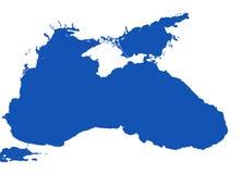 Vector del Mar Negro - formato de los cdr Fotos de archivo