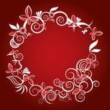 Vector del marco de la flor de la Navidad stock de ilustración