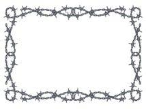 Vector del marco del alambre de púas Fotografía de archivo