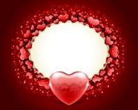 Vector del marco del día de tarjeta del día de San Valentín con el corazón Imagenes de archivo