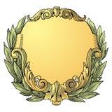 Vector del marco del laurel Imágenes de archivo libres de regalías